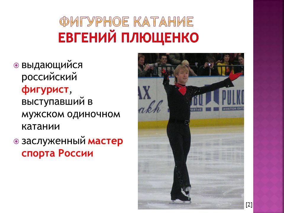  выдающийся российский фигурист, выступавший в мужском одиночном катании  заслуженный мастер спорта России [2]