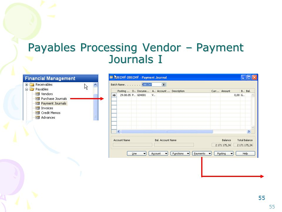 54 Payables Processing Vendor –Summary Aging Report