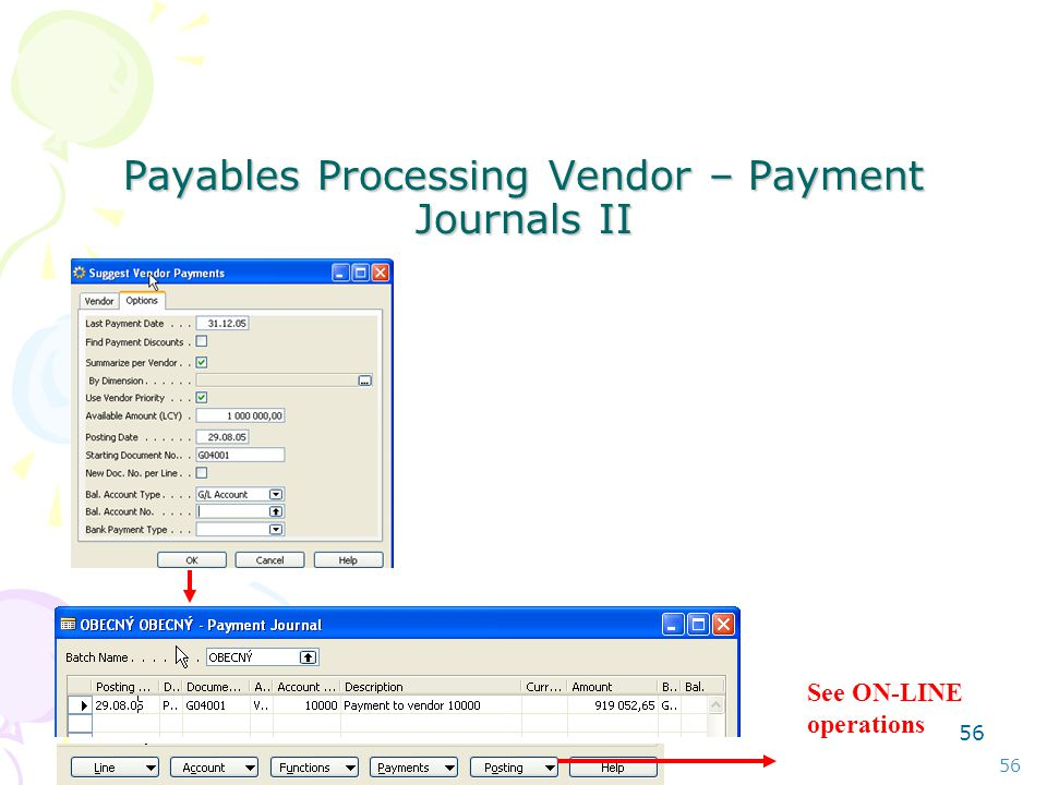 55 Payables Processing Vendor – Payment Journals I