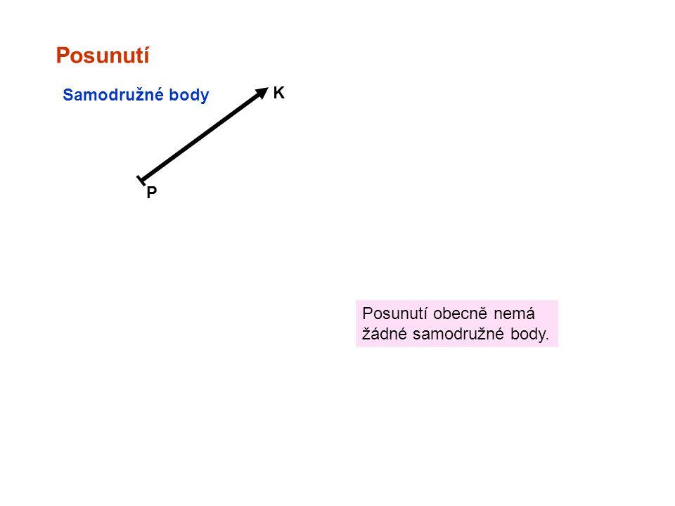 Posunutí P K Samodružné body Posunutí obecně nemá žádné samodružné body.