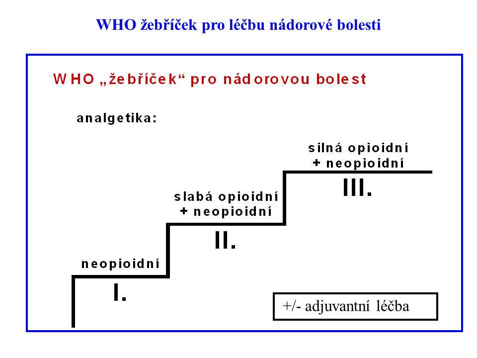 WHO žebříček pro léčbu nádorové bolesti +/- adjuvantní léčba