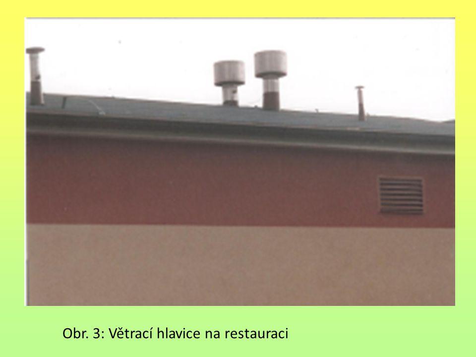 Obr. 3: Větrací hlavice na restauraci