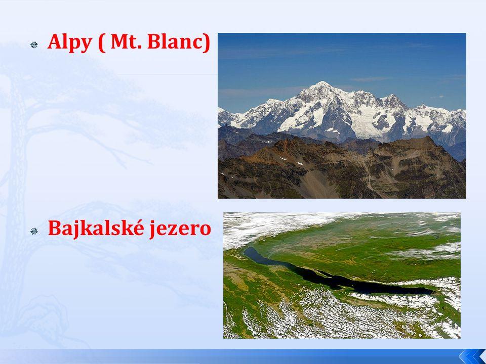 AAlpy ( Mt. Blanc) BBajkalské jezero