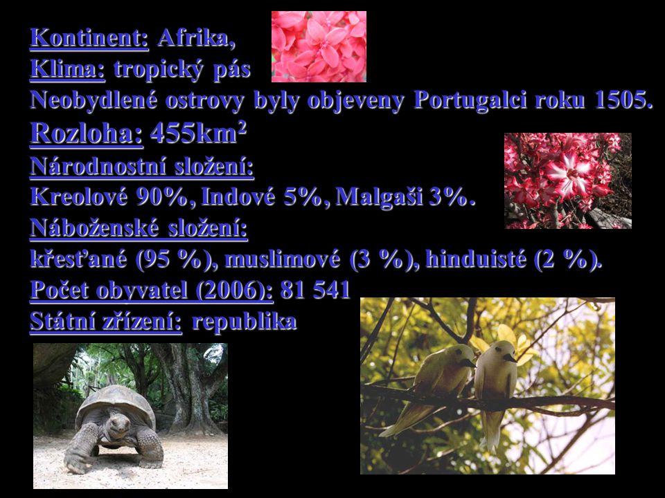 Kontinent: Afrika, Klima: tropický pás Neobydlené ostrovy byly objeveny Portugalci roku 1505.