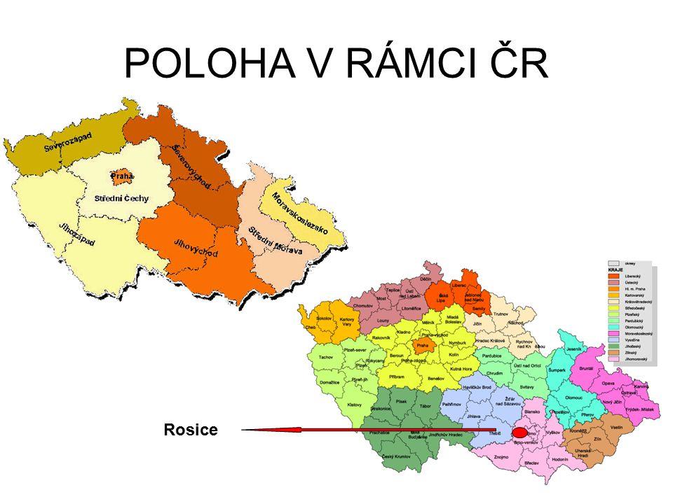 POLOHA V RÁMCI ČR Rosice
