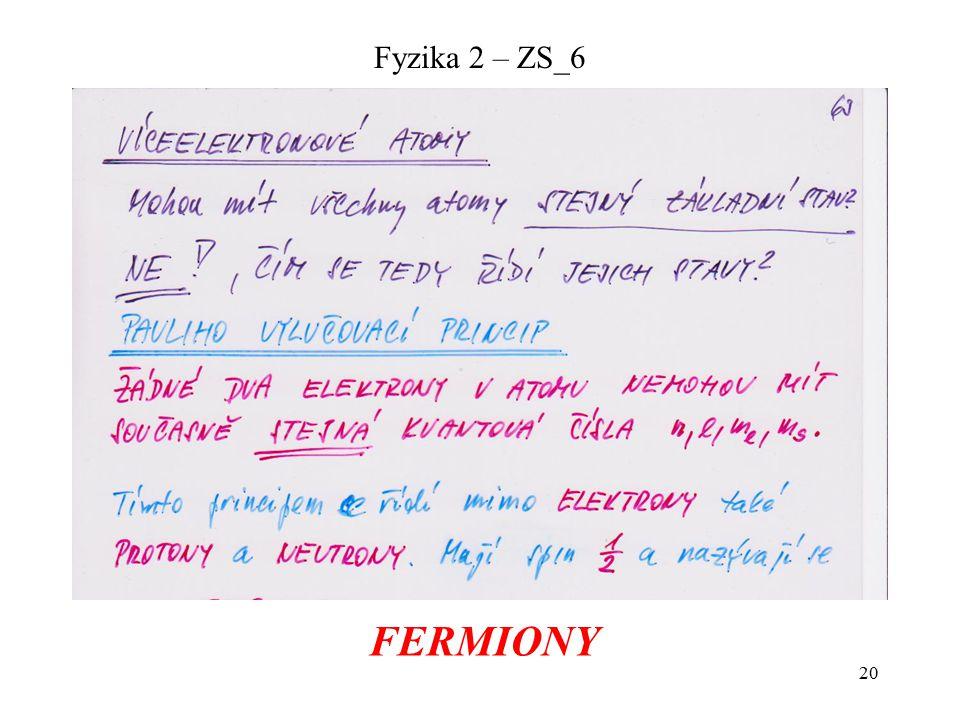 20 Fyzika 2 – ZS_6 FERMIONY