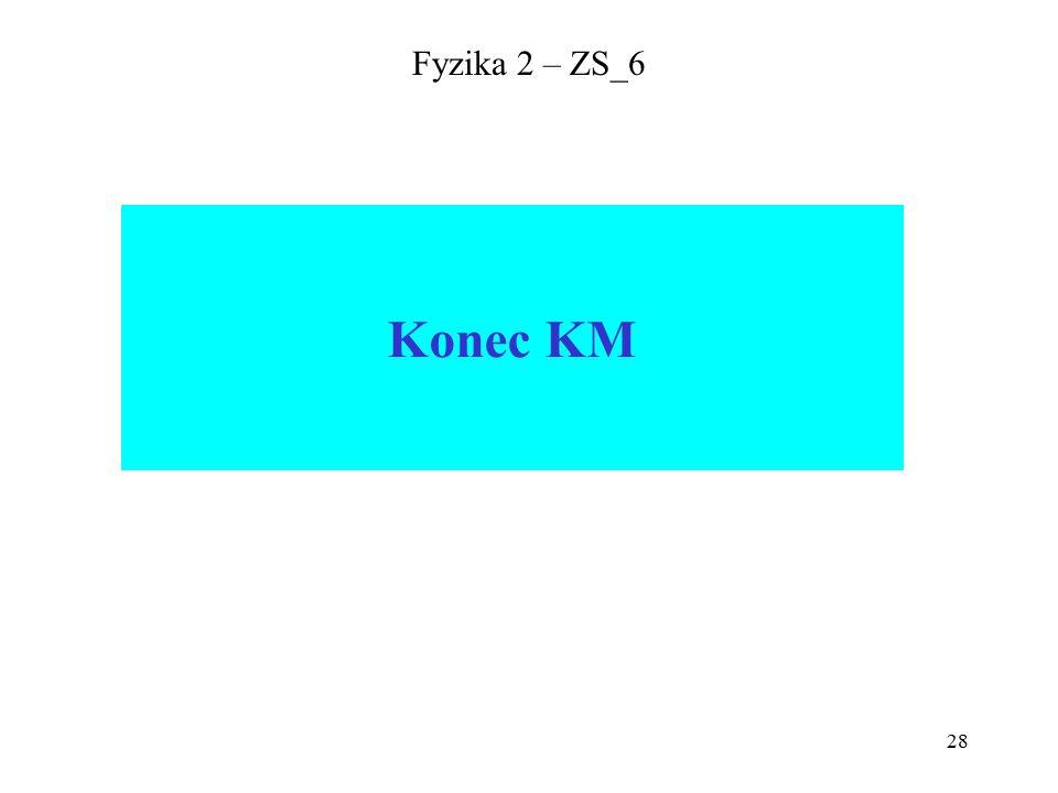 28 Fyzika 2 – ZS_6 Konec KM