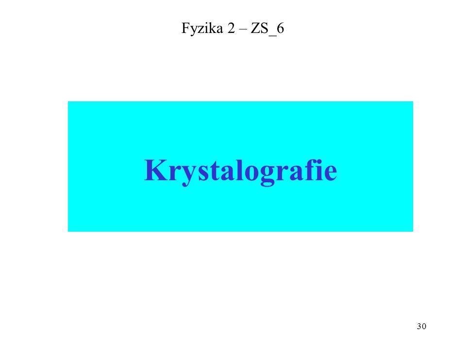 30 Fyzika 2 – ZS_6 Krystalografie