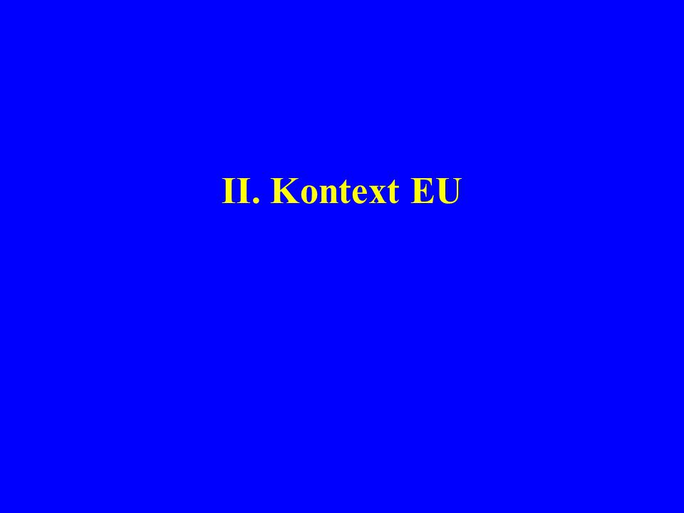 II. Kontext EU
