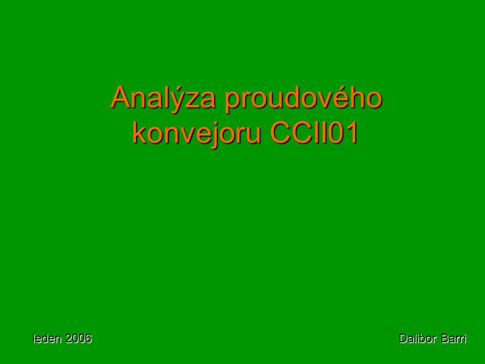 Analýza proudového konvejoru CCII01 leden 2006 Dalibor Barri
