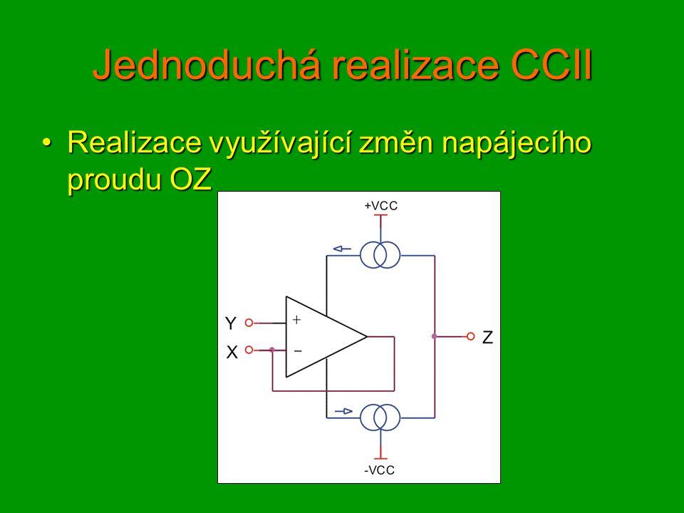 Vnitřní struktura CCII01 Principiální schémaPrincipiální schéma Uy – Ux = Ube(pnp) – Ube(npn) = Ut.ln(Isp/Isn), Udx = Rx.Ix, Rx = re2IIre3.