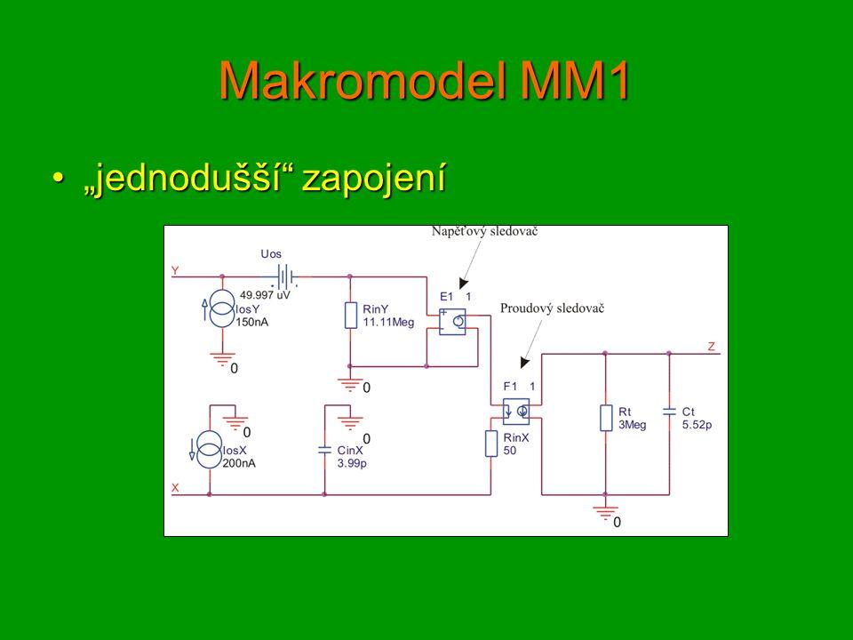 """Makromodel MM1 """"jednodušší zapojení""""jednodušší zapojení"""