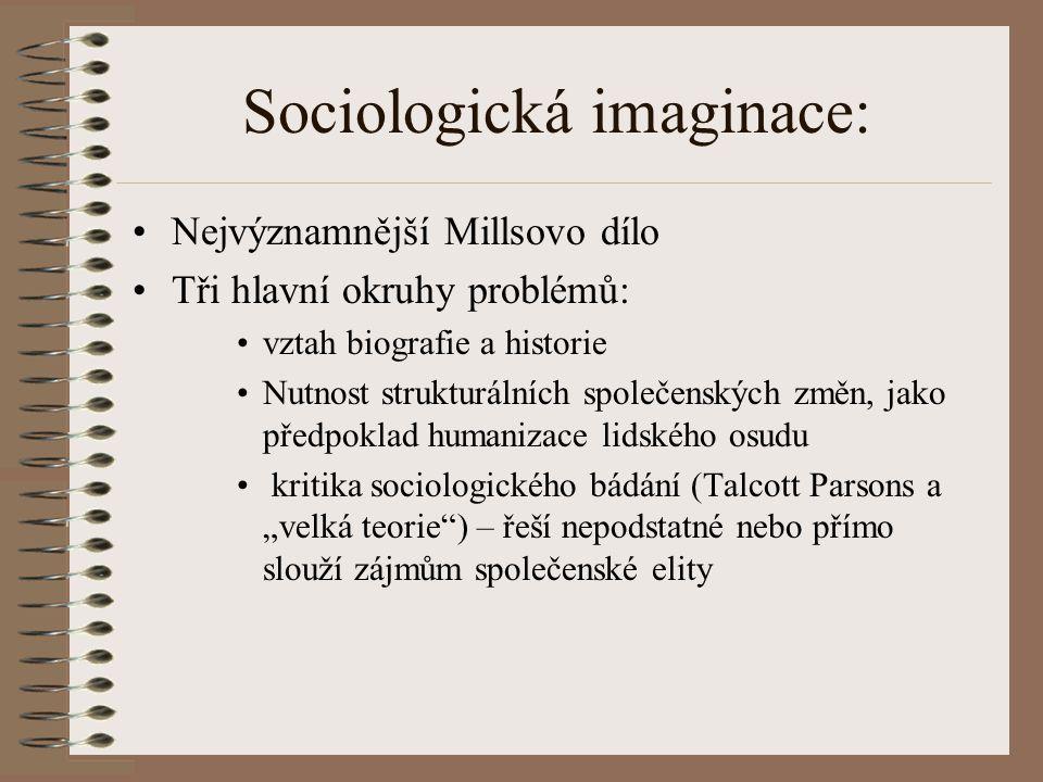 Sociologická imaginace: Moderní společnost je společnost chaotická, která více než kterákoliv jiná vyžaduje určitý typ vysvětlení faktů, které o sobě produkuje.