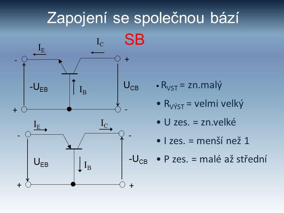 Proudový zesilovací činitel SB -+-+ mA I E,  I E I C,  I C I B,  I B U BE U CB h 21B =  I C  I E