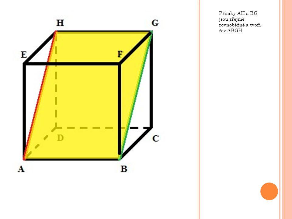 Vzdálenost určujeme vždy na kolmici.