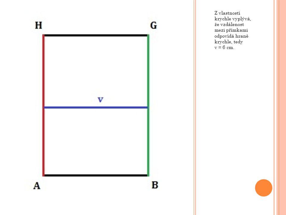 V krychli ABCDEFGH o hraně a = 8 cm určete vzdálenost přímek AC a KL, kde body K a L jsou po řadě středy hran EH a GH.