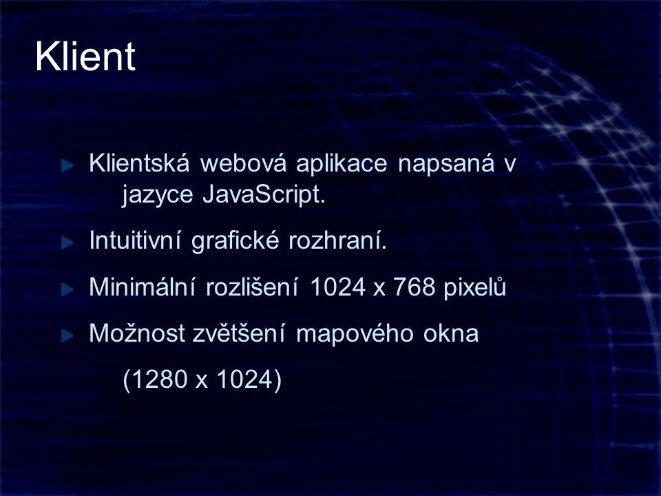 Klientská webová aplikace napsaná v jazyce JavaScript.