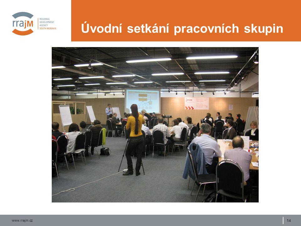 www.rrajm.cz 14 Úvodní setkání pracovních skupin