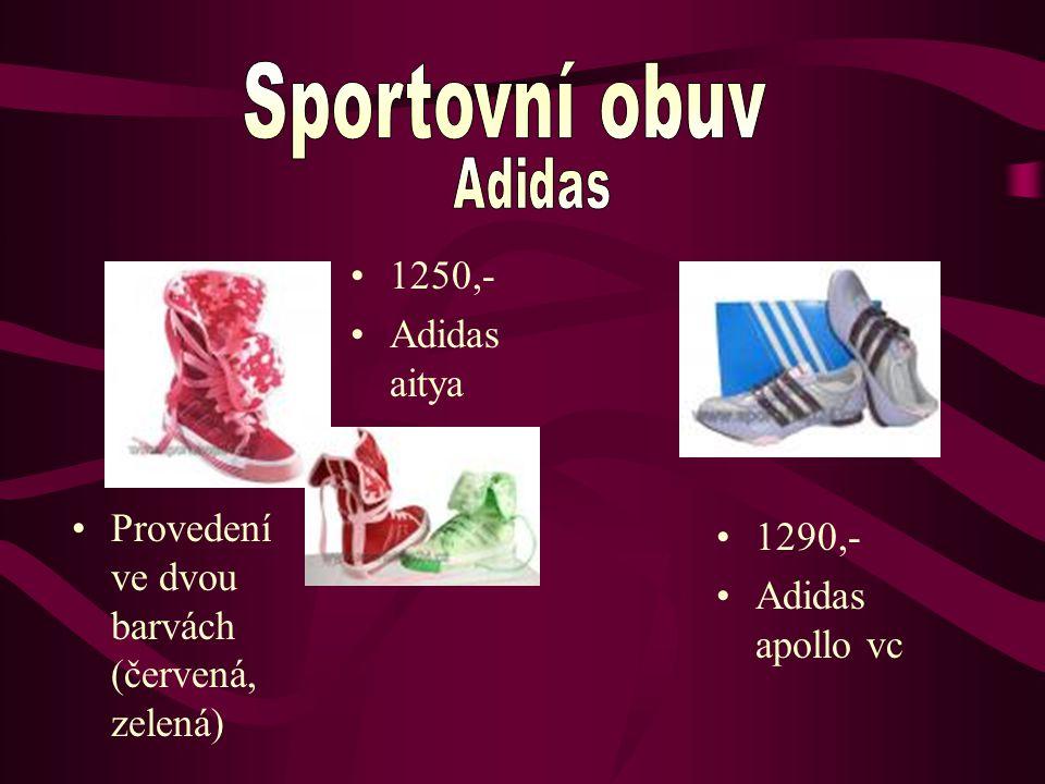 1250,- Adidas aitya Provedení ve dvou barvách (červená, zelená) 1290,- Adidas apollo vc