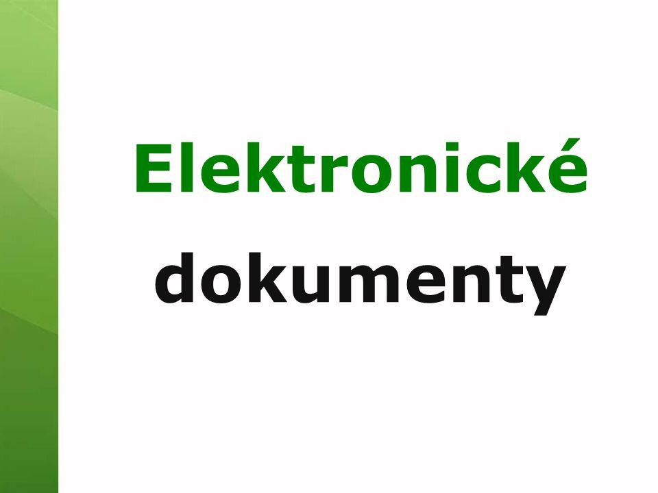 Elektronické dokumenty