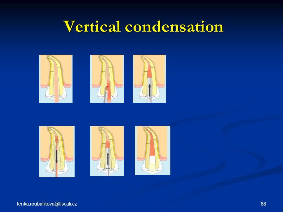 lenka.roubalikova@tiscali.cz 88 Vertical condensation Vertical condensation