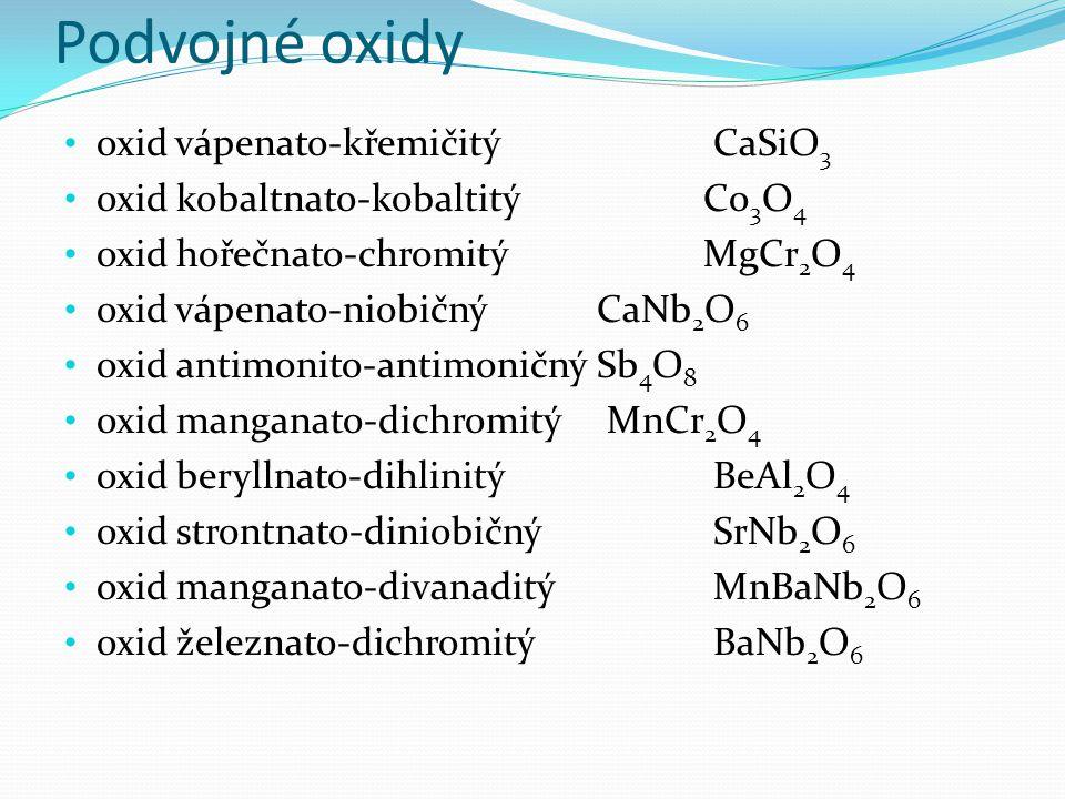 Podvojné oxidy KOTLÍK, Bohumír a Květoslava RŮŽIČKOVÁ.