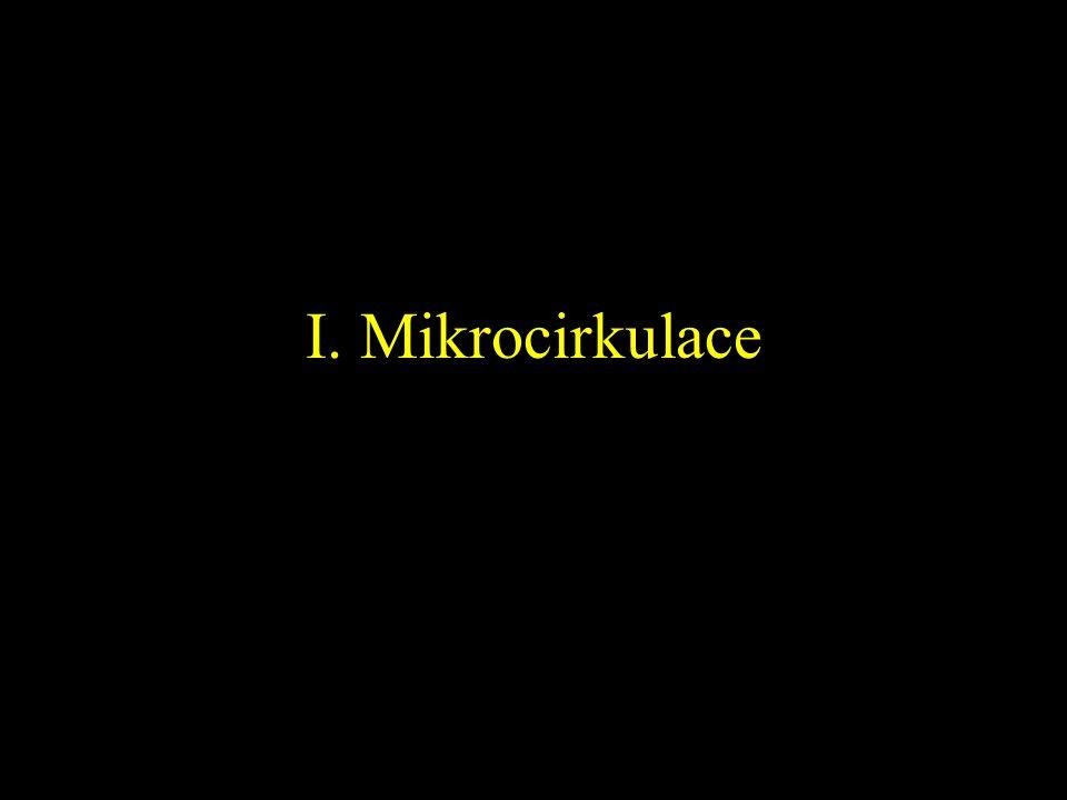 I. Mikrocirkulace