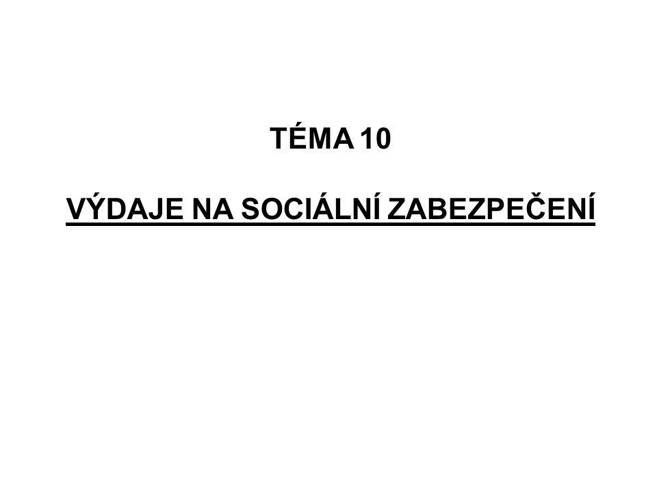 TÉMA 10 VÝDAJE NA SOCIÁLNÍ ZABEZPEČENÍ
