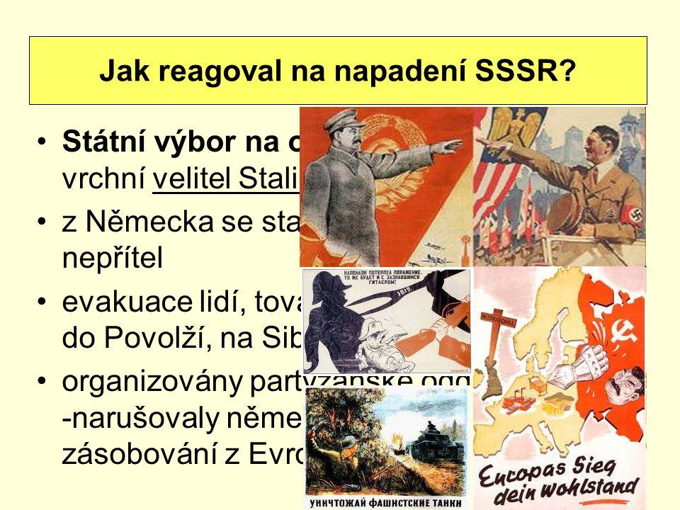 Státní výbor na obranu SSSR - vrchní velitel Stalin z Německa se stal úhlavní nepřítel evakuace lidí, továren na Ural, do Povolží, na Sibiř organizová