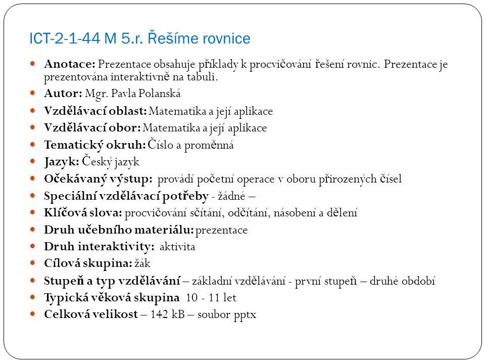 ICT-2-1-44 M 5.r.