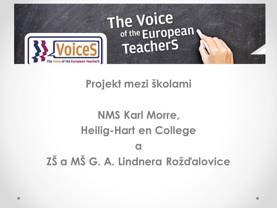 Projekt mezi školami NMS Karl Morre, Heilig-Hart en College a ZŠ a MŠ G. A. Lindnera Rožďalovice