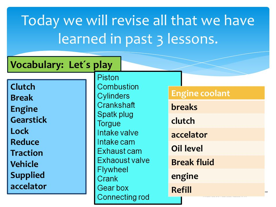 Today we will revise all that we have learned in past 3 lessons.