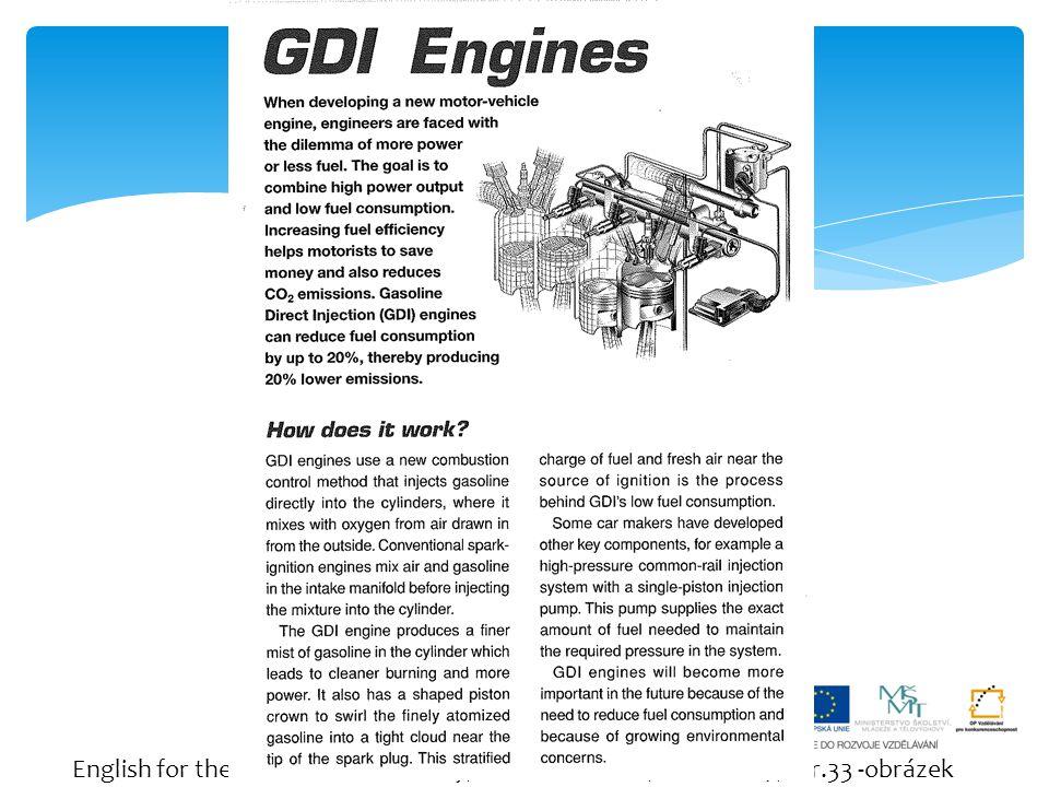 English for the Automobile Industry, Tomáš Hausner, Fraus 2007, str.33 -obrázek Let´s read.
