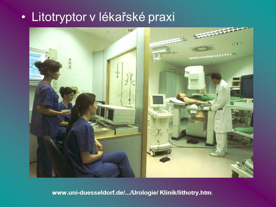www.uni-duesseldorf.de/.../Urologie/ Klinik/lithotry.htm. Litotryptor v lékařské praxi