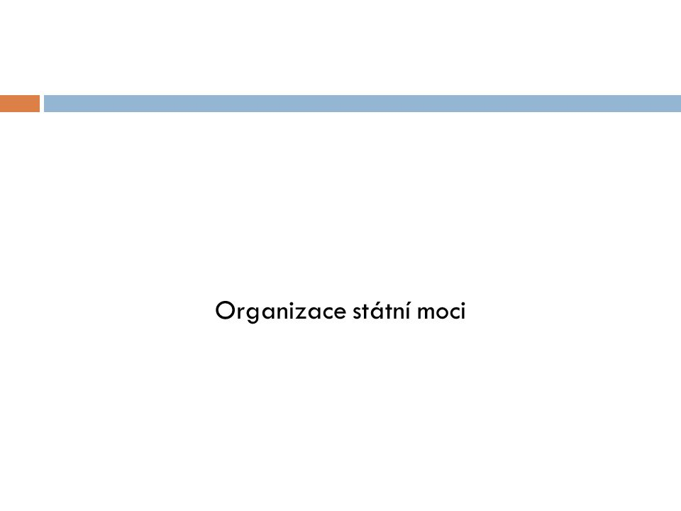 Organizace státní moci