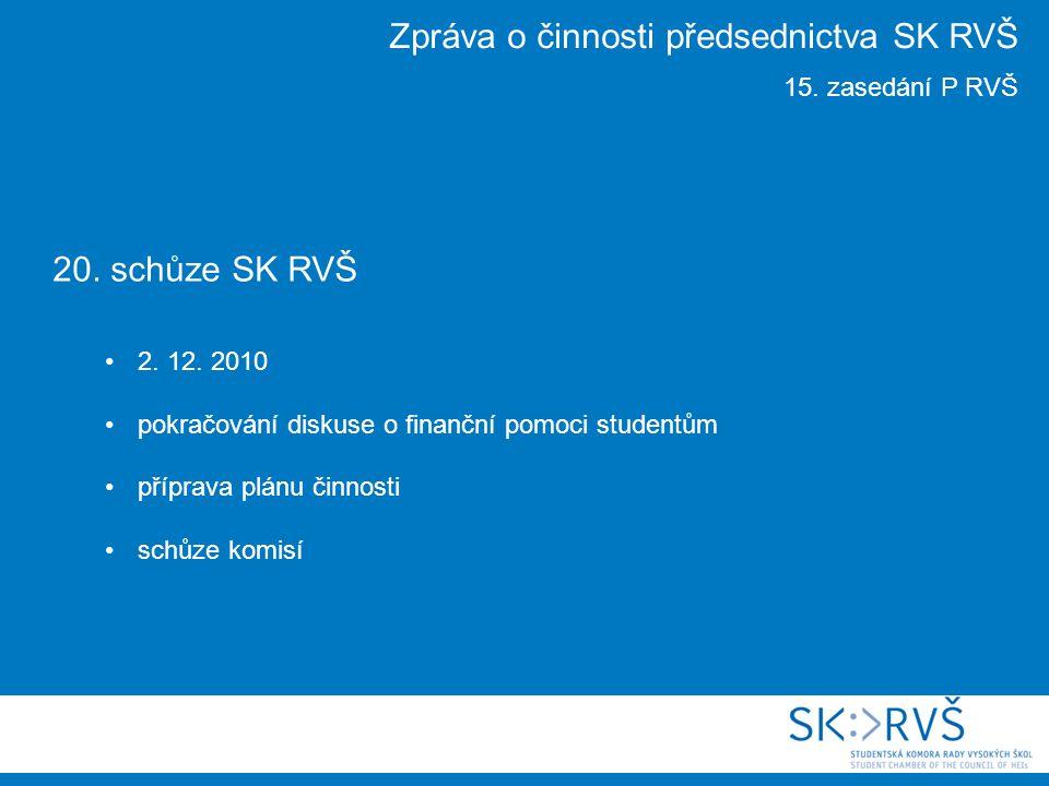 20. schůze SK RVŠ 2. 12.