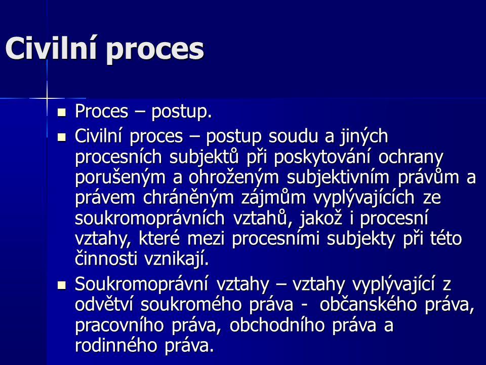 Civilní proces Proces – postup.Proces – postup.