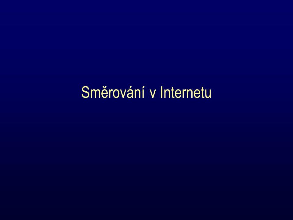 Směrování v Internetu