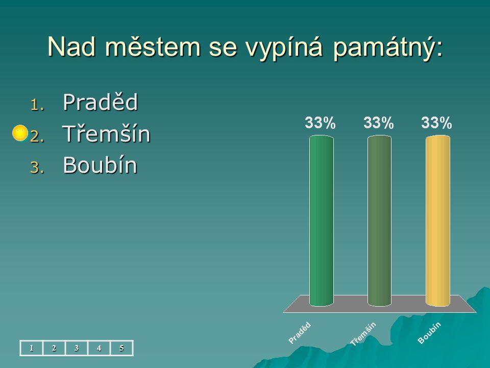 Největší rybník se jmenuje: 12345 1. Sobeňský 2. Nový 3. Podzámecký