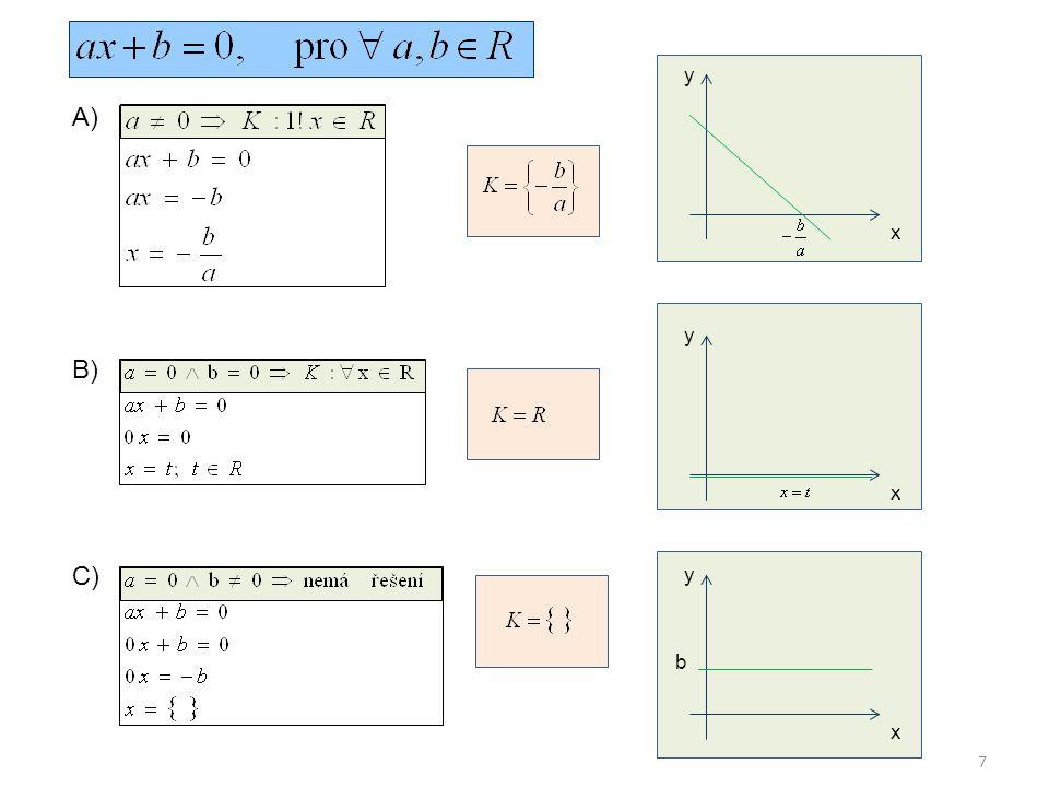 7 A) y x B) y x C) y x b