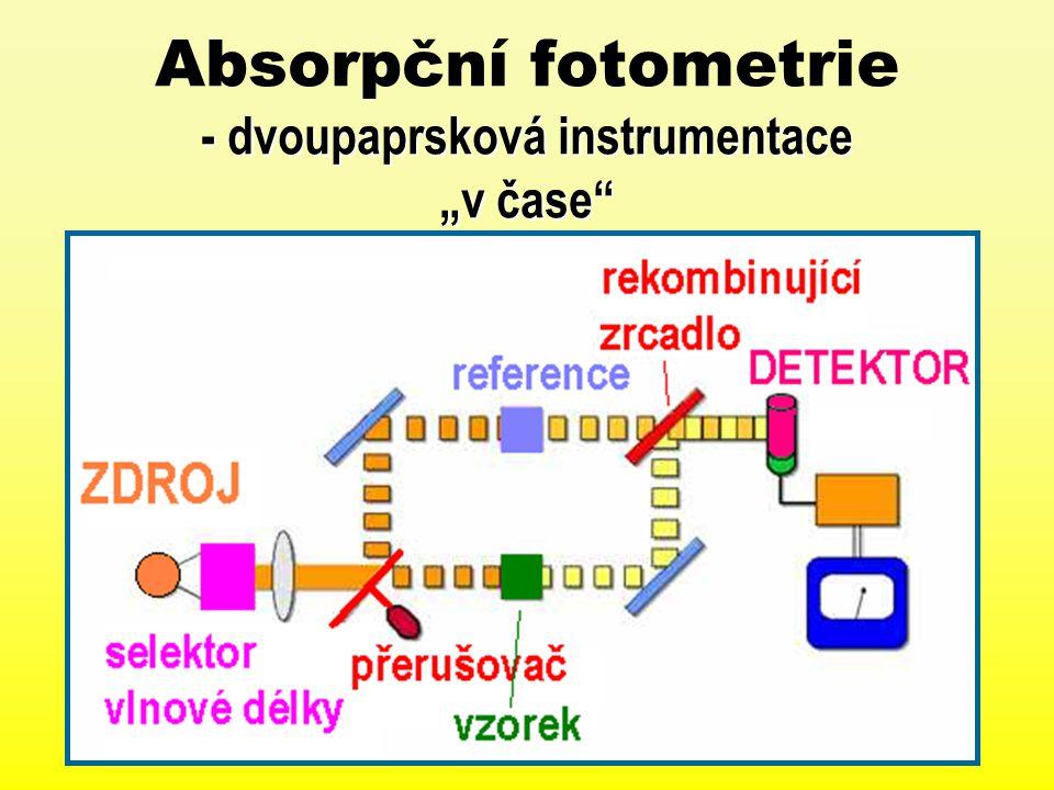 """- dvoupaprsková instrumentace """"v čase"""" Absorpční fotometrie - dvoupaprsková instrumentace """"v čase"""""""