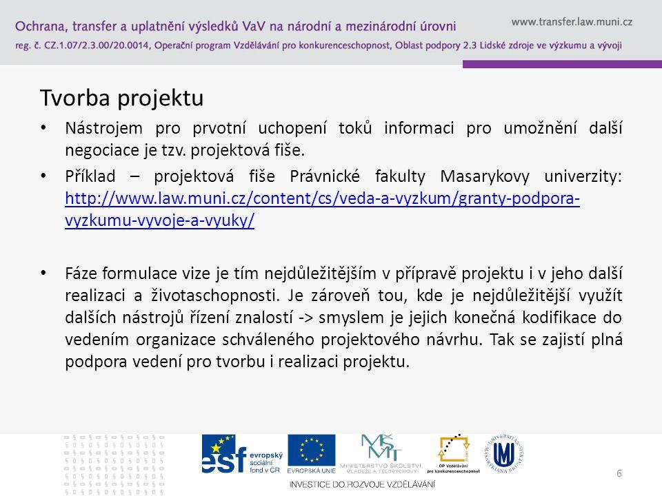 Tvorba projektu – systém Benefit 7 Stručný obsah projektu - Stručně popište obsah projektu.