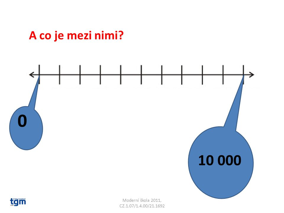 Moderní škola 2011, CZ.1.07/1.4.00/21.1692 0 10 000 A co je mezi nimi
