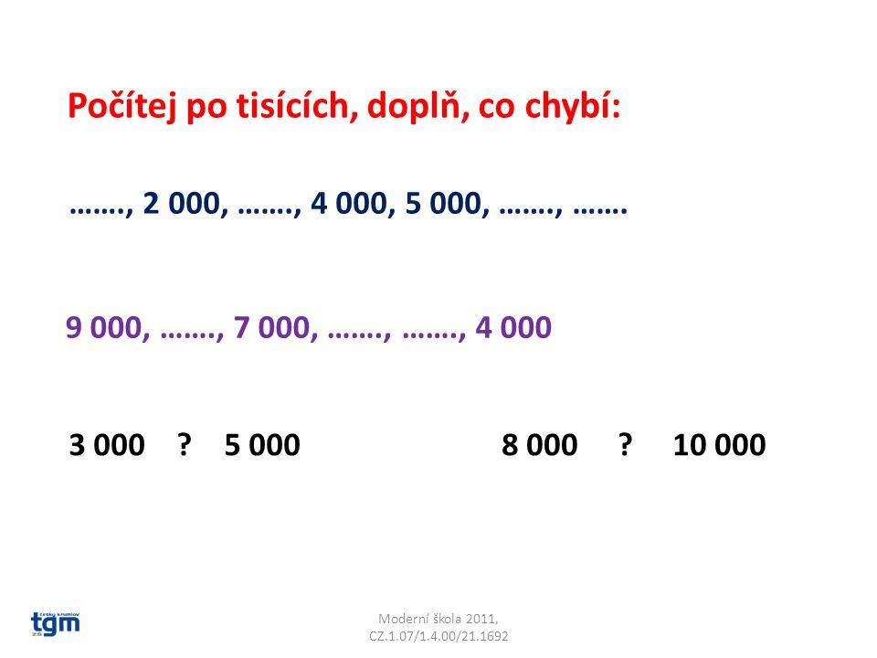 Moderní škola 2011, CZ.1.07/1.4.00/21.1692 ……., 2 000, ……., 4 000, 5 000, ……., …….