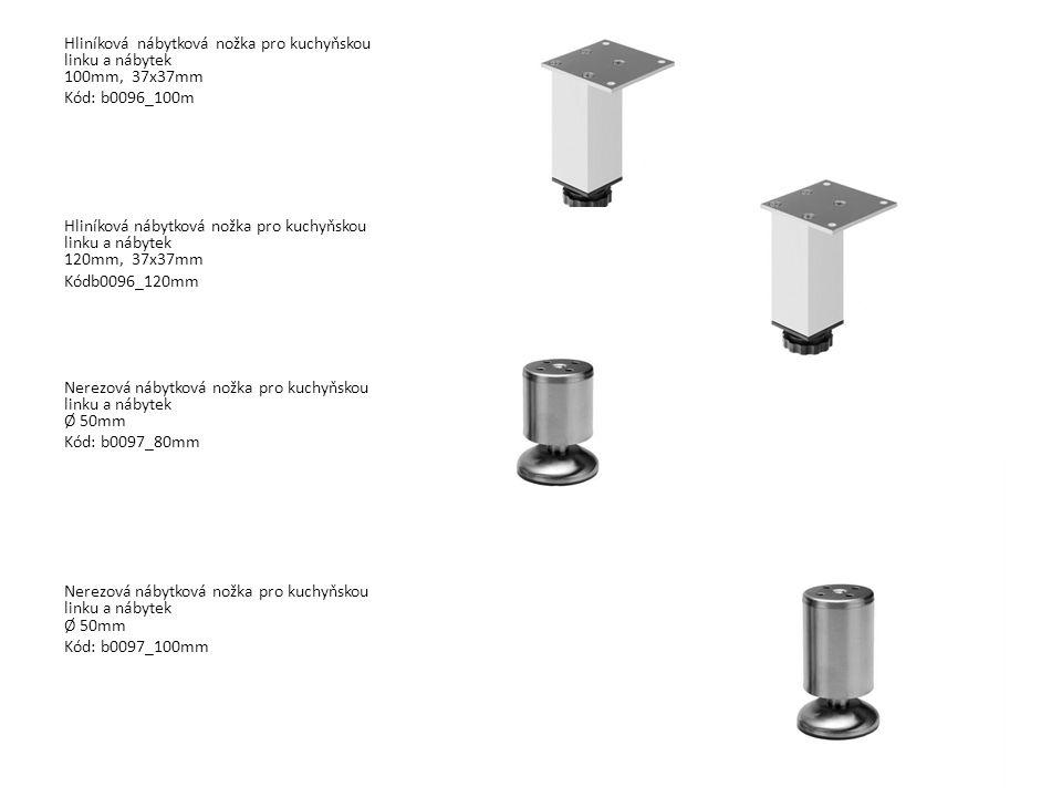 Hliníková nábytková nožka pro kuchyňskou linku a nábytek 100mm, 37x37mm Kód: b0096_100m Hliníková nábytková nožka pro kuchyňskou linku a nábytek 120mm