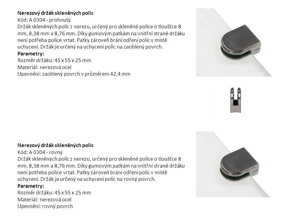 Nerezový držák poliček, 200mm, 2 ks Kód: b0068-200mm Tyto nerezové držáky jsou vyrobeny z kvalitní nerezové oceli tak, aby unesly až 70 kg.