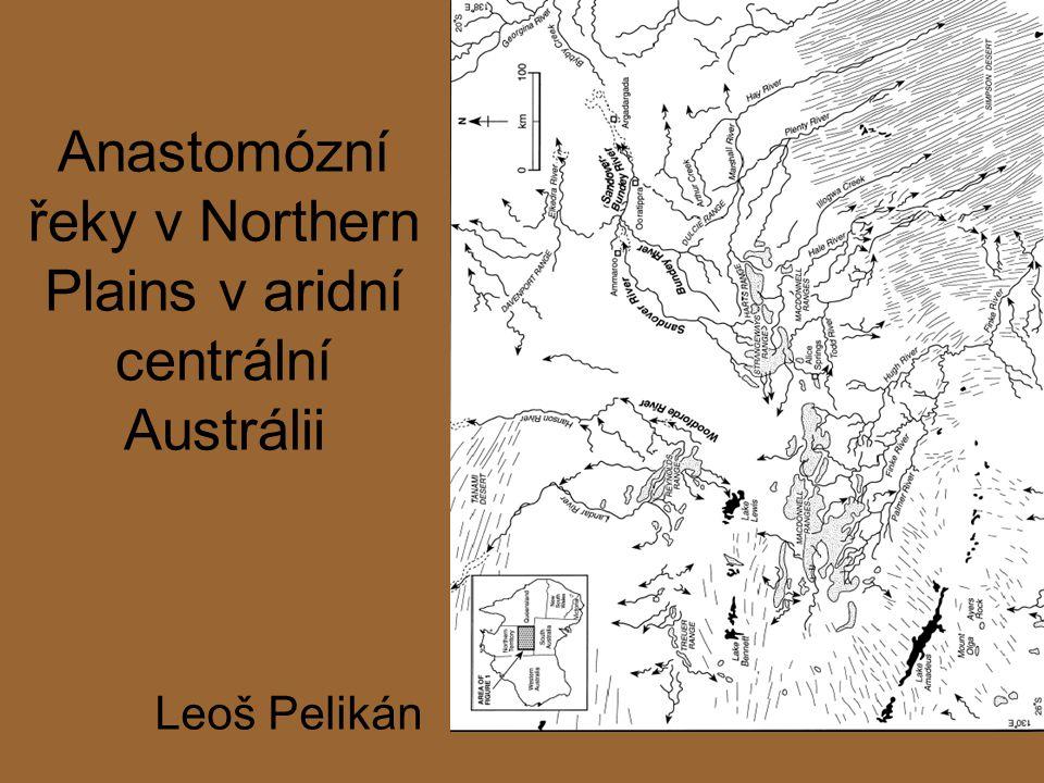 Anastomózní řeky v Northern Plains v aridní centrální Austrálii Leoš Pelikán