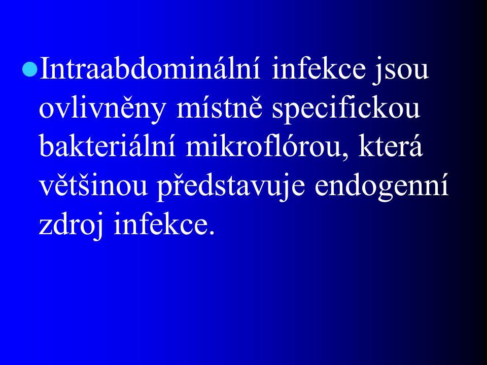 Diagnostika intrabdominálních infekcí Chirurgická – (fyzikální vyšetření, sonografie, CT, NMR, biochemické vyšetření…) Mikrobiologická – mikroskopická – kultivační