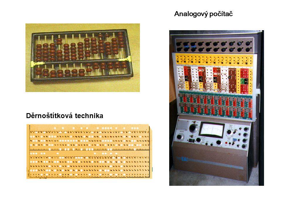Děrnoštítková technika Analogový počítač