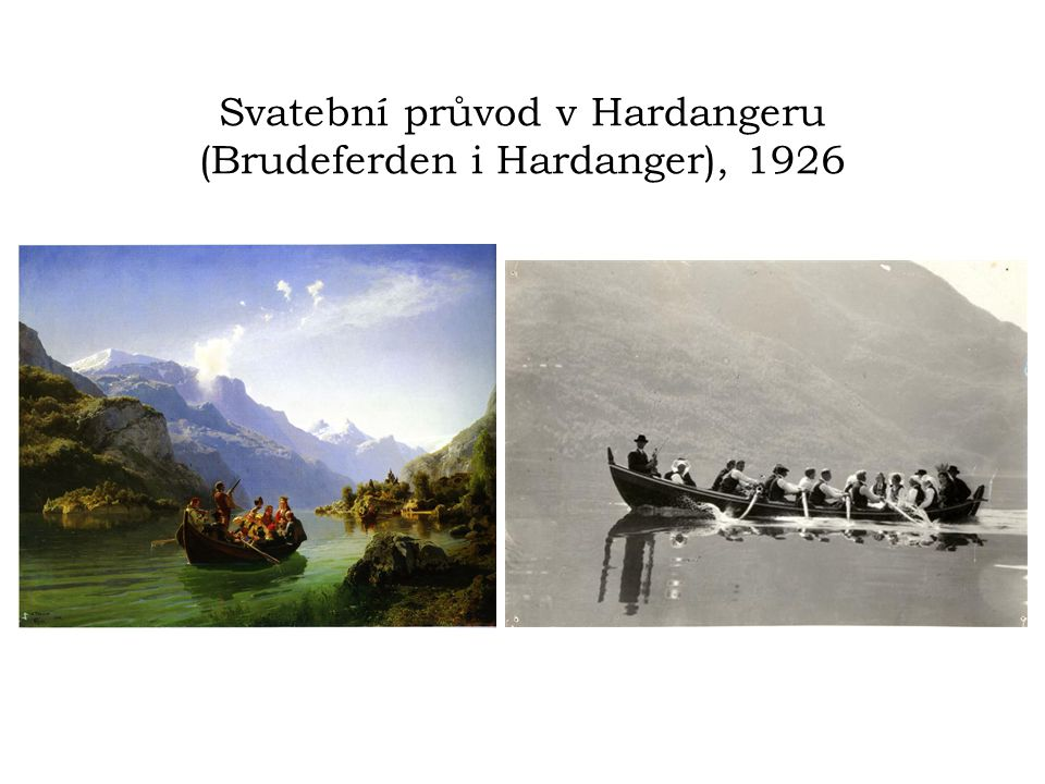 Svatební průvod v Hardangeru (Brudeferden i Hardanger), 1926